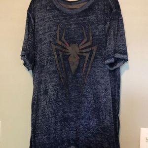 Marvel Spiderman shirt burnout style XL